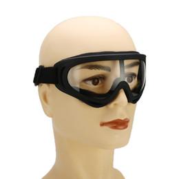 Toptan satış Çalışma Koruyucu Güvenlik Gözlükler Spor Güvenlik Windproof Taktik İşçi Koruma Glasses İçin Anti-UV Kaynak Toz geçirmez camları