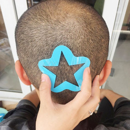 Plantilla de tatuaje el peinado del cabello de la plantilla de recorte salón de peluquería peluquero DIY Modelo en venta
