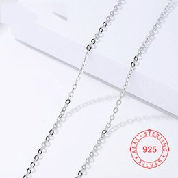 Silver Chains Free Shipping Australia - pure 925 sterling silver chain female necklace Cross Clavicle Chain 40   45 cm rhodium plated Necklace Chain For Women Free Shipping