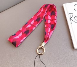 Wholesale Phone Silk lanyard Letter Tags Strap Neck Lanyards for keys ID Card Pass Gym Mobile Phone USB badge Hang Rope