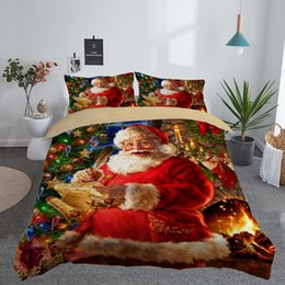 merry christmas bedding Canada - 3D Printed Merry Christmas Bedding Set Queen Twin King Size Christmas Decoration for Home