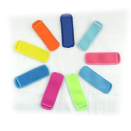 Wholesale Neoprene Popsicle Holders Pop Ice Sleeves Freezer Pop Holders 18*6cm for Kids Summer Kitchen Tools 10 color