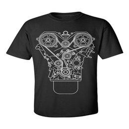 Engine Designs Australia - Cotton Shirts Cheap Wholesale Short Sleeve Printing Machine Crew Neck Mens Engine Design T Shirts