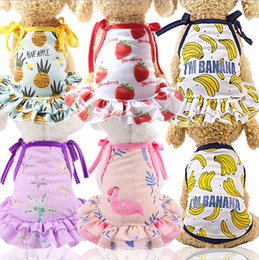 $enCountryForm.capitalKeyWord NZ - Dog Clothes Fruit Printed Dog T Shirts Small Dog Dresses Pet Cats Outfit Pet Supplies Pineapple Banana Strawberry 8 Designs YW3898