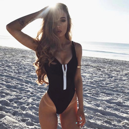 $enCountryForm.capitalKeyWord Australia - One Piece Swimsuit 2019 New Plus Size Swimwear Women Vintage Bathing Suits Summer Beach Wear Zipper Padded Swimming 4XL