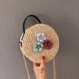 $enCountryForm.capitalKeyWord UK - xiniu Fashion New Women Round Shoulder Bag Weave Ladies Straw Chain Crossbody Bag Casual Flower Handbag Bolsa Femininal #0712