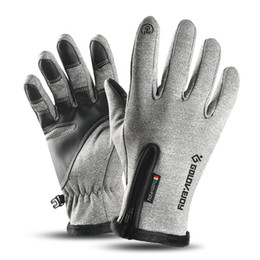 windproof waterproof touch screen gloves UK - Thermal Winter Gloves Touch-screen Cycling Waterproof Windproof Gloves Fleece Warm Climbing Skiing Motorcycling Equipment