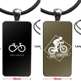 cycle pendant Australia - Fashion Sky Team Cycling Glass Cabochon Pendant Necklace Rectangle Fashion Necklace For Unisex
