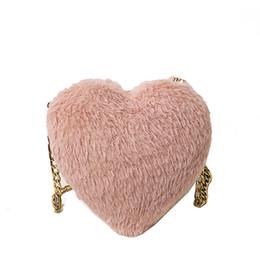 $enCountryForm.capitalKeyWord NZ - Personality Mini Plush Heart-shaped Small Bag Female New Fashion High Quality Chain Shoulder Bag Casual Wild Messenger Bag