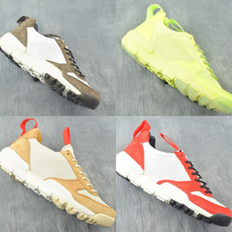 Lime Green Running Shoes Canada - New Custom Tom Sachs Mars Yard 2.0 Designer Mens Running Shoes Space Camp Lime Green Red Black Fashion Womens Sneakers With Box