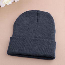 $enCountryForm.capitalKeyWord Australia - Women Men Winter Hat Snap Back Muts Knit Hip Hop Beanie Warm Ski Cap Bonnet femme Solid Color Cheap Gorro No Pompom Wholesale