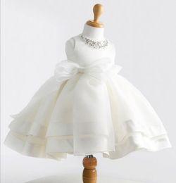 Korean Kids wedding dresses online shopping - Months Baby Girl st Birthday Party Dress Princess Tutu Toddler Kids fluffy Silk Christening Wedding Dress Korean Style Infant Girl Clothes