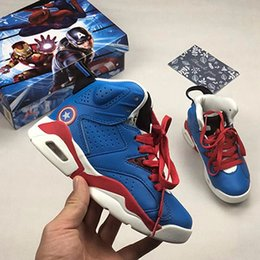 657d19002a4 Spiderman Iron Man toddler girl Children shoes youth boys kids trainers basketball  shoes 6s Chaussures sports sneakers Enfant size 28-35