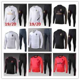 315803da 2019 2020 Real Madrid tracksuit adult soccer chandal football tracksuit  2019 20 adult training suit skinny pants Sportswear