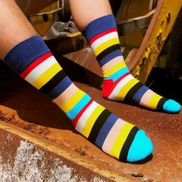 Colorful Cotton Socks Australia - Colorful Women Men Socks Striped Cotton Fashion Socks Soft Stylish Casual Breathable Calcetines Hombre Ladies Male 2019