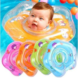 $enCountryForm.capitalKeyWord Australia - Cute Drop Neck Baby Dolphin Swimming Ring Inflatable Infant Armpit Floating Kids Swim Circle Bathing Inflatable Rings Toy PVC