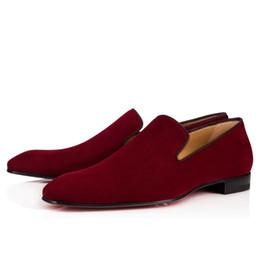 $enCountryForm.capitalKeyWord UK - Elegant Gentleman Slip On Dandelion Sneaker Flat Mens Business Red Bottom Loafer Luxury Designer Oxfords Outdoor Wedding Party Shoes Y5623