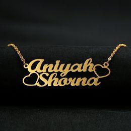 $enCountryForm.capitalKeyWord Australia - Custom Name Necklace Women Personalized Customized Pendant Cursive Handwriting Stainless Steel Chain Fashion Jewelry BFF Gifts