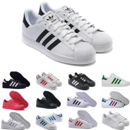Hologram Shoes NZ - 2018 Casual Originals Superstar White Hologram Iridescent Junior Superstars 80s Pride Sneakers Super Star Women Men Sport Casual Shoes A2566
