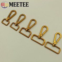 metal spring hooks NZ - Meetee 16 20 25 32 38MM Metal Spring Buckles Hook Retro Gold Rotating Adjust Connector for Keychain Bags Accessories BF213