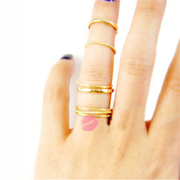 $enCountryForm.capitalKeyWord Australia - Multilayer Rings Design DIY Silver Gold Color Metal Chain Connected Finger Joint Rings For Women Punk Jewelry