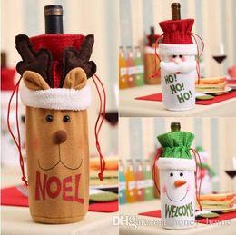 $enCountryForm.capitalKeyWord NZ - Xmas Santa Claus Elk Wine Bottle Gift Bag Ornaments Christmas Deer Snowman Beer Bags Decoration Mayitr Festival Supplies