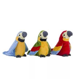 repeating toy animals NZ - 22CM Cute Parrot Plush Doll Toy Cartoon Animal Simulation Parrot Stuffed Decoration Dolls Toys Electric Toys Repeat Voice Learning Speaking