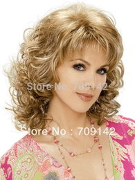 $enCountryForm.capitalKeyWord NZ - High Quality Synthetic fibre queen brazilianr made no lace Kanekalon wigs Cosplay The fads mixed blonde women's wig