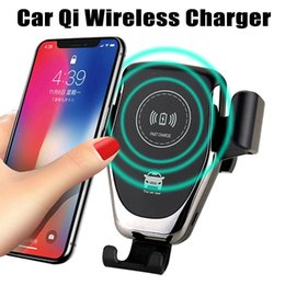 Wholesale QI Car Phone Holder Wireless Charger Mount Air Vent Stand Holder for iphone XS XS MAX Samsung note with Retail Package