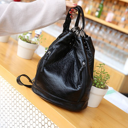 8519c5aecc 2019 Women Famous Brand Soft Leather Backpack Tote Bags Black Mini Bags  Women School Bags For Teenage Girls Feminina Backpack