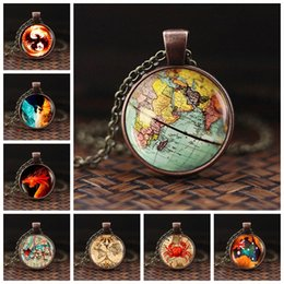 $enCountryForm.capitalKeyWord Australia - 2019 Vintage Glass Globe Dome Women Men Necklaces Pendants Fashion Long Necklaces Minimalist World Map Pendant Necklace
