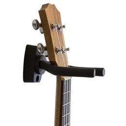Black Guitar Screws Australia - Black Guitar Hanger Hook Holder Wall Mount Stand Rack Bracket Display Guitar Accessories Easy Install plus Screws