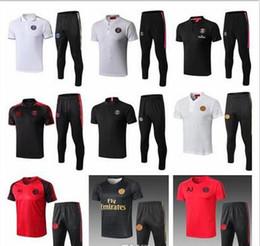 93957a757df 2018 19 Jordam X PSG shorts sleeves training suit Champions League  Survetement 18 19 PSG MBAPPE football shirt air jordam soccer Jersey kit
