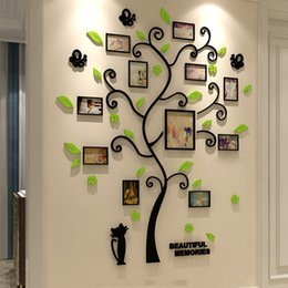 $enCountryForm.capitalKeyWord Australia - Acrylic 3d Family Photo Frame Tree Stickers Removable Diy Art Wall Poster Decals For Living Room Bedroom Home Decoration Q190522