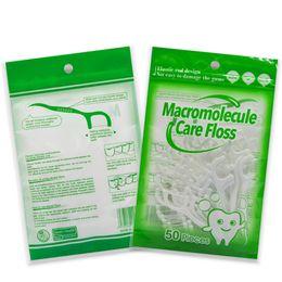 Flossing Dental floss / 50 pzas Dental Flosser Dientes únicos Palillos de dientes Cuidado bucal Limpieza dental