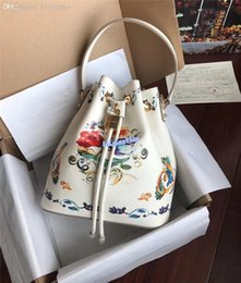 brown leopard print Australia - 2019 New imported cowhide Fashion rivet bucket bag Various printing colours Inside leopard print Single shoulder leather bag