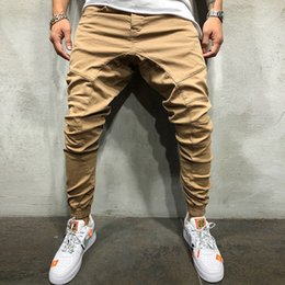 Wholesale elastic band pants resale online – New Mens Ankle Banded Side Zipper Casual Simple Style Spring Time Comfortable To Wear Pencil Waistline Pants