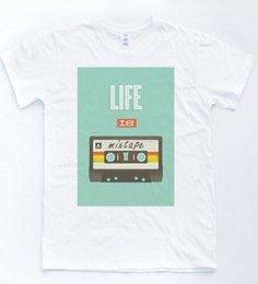 $enCountryForm.capitalKeyWord UK - Life Is A Mixtape T Shirt Indie Retro Sketch Hipster Vintage Tape Music Men Brand Clothihng Top Quality Fashion Mens T Shirt 100%Cotton