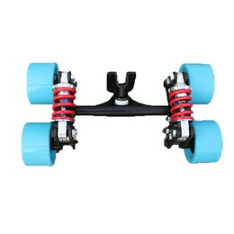 Wholesale 2019 New Electric Skateboard Truck Aluminum Bridge New Four skateboard wheels long skate board truck For Flate Plate Parts