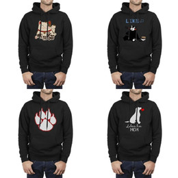 Fashion Men Love Labrador Mutter Sitzen Hund Silhouette schwarz Fleece-Sweatshirt Druck Neuheit Hip Hop Hoodies chinesische glückliche Katze Blume