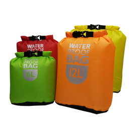 waterproof swim bags UK - 2019 New Waterproof Dry Bag Pack Sack Swimming Rafting Kayaking River Trekking Floating Sailing Canoing Boating Water Resistance