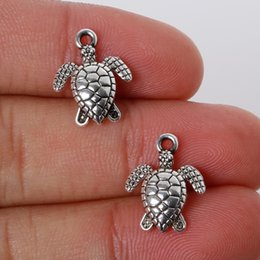 $enCountryForm.capitalKeyWord Australia - Vintage 12Pcs 12*16mm Zinc Alloy Antique Silver Sea Turtle Charms Pendants Jewelry Findings For DIY Choker Necklace Bracelet