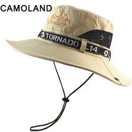 27e58211b39 Breathable Mesh Summer Sun Hats Quick Dry Beach Male Wide Brim Sun Men Women  Outdoors UV Protection Fishing Bucket Hat Flat D19011103