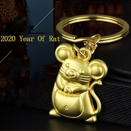 genuine mouse NZ - New Chunky Rat Mouse Keychain Fashion Trinket Animal Car Keyfob Bag Pendant Key Chain Personalized Keyring for Women Gift