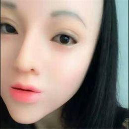 $enCountryForm.capitalKeyWord Australia - Funny Cos 100% Latex New Female Human crossdress female mask realistic silicone party mask Women Cosplay Face Mask For Cosplay