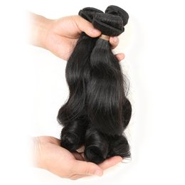 Raw Hair Dye Colors Australia - Funmi Curl Loose Wave 9A 3 Bundles Deal Real Virgin Raw Human Hair Unprocessed Weave Weft 300g Natural Color (14 16 18 Inch)