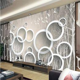 Art Paper Rolls Australia - papel de parede 3D Custom photo Wallpaper 3D Mural Wall paper Stickers Art Abstract Woods 3D Living Room TV Walls roll
