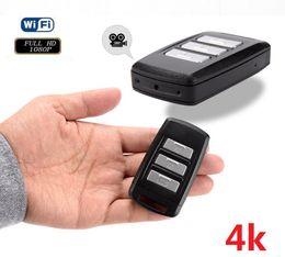 $enCountryForm.capitalKeyWord Australia - Wireless Wifi car key mini Camera 4k Full HD 1080p H2.64 car keychain video recorder camera support motion detection home security camcorder
