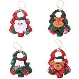 $enCountryForm.capitalKeyWord Australia - 14.5x10.5cm Christmas Door Hanging Doll Xmas Ornaments Santa Claus Elk Snowman Pendants Drop Christmas Tree Decorations for Home
