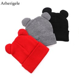 cute skull hats for women NZ - Arherigele Hat Female Cute Ears Shape Cap Warm Winter Cap Hat for Women Girls's Braided Knitted Hat Cap Skullies Beanies Gorro S18120302